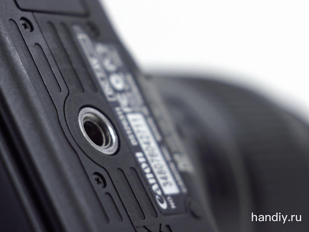 """Фотография - Штативное гнездо фотоаппарата Canon Eos 600D с резьбой 1/4""""-20"""