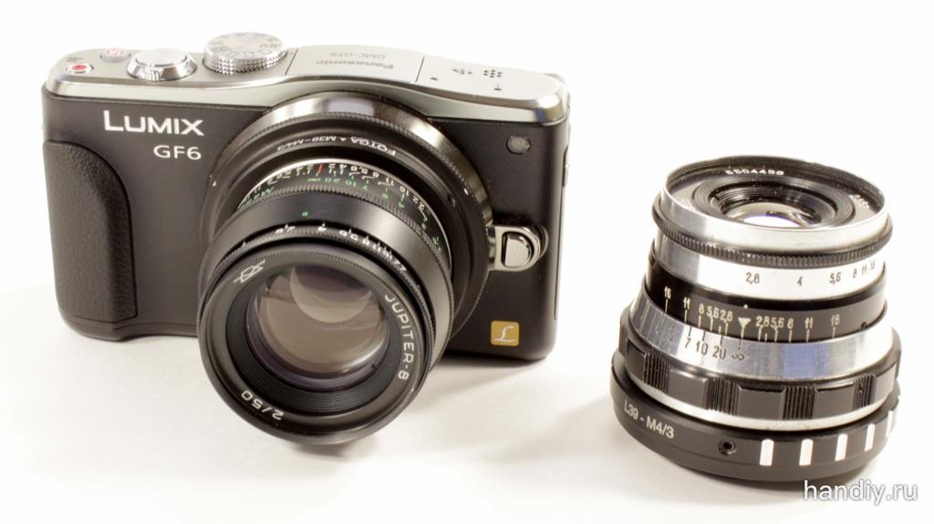 Переходник адаптер M39-M4/3 для Panasonic Lumix DMC-GF6