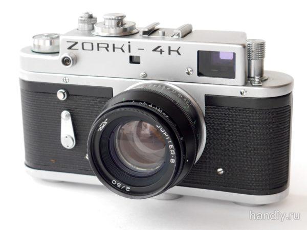 Фотография Zorki-4k Зоркий 4К Дальномерный пленочный фотоаппарат с объективом Юпитер-8 Jupiter-8 2/50