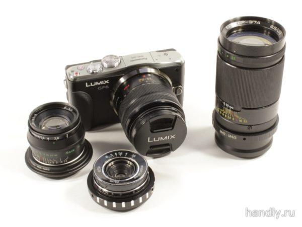 Фотография объективы для фотоаппарата панасоник Panasonic DMC-GF6 Olympus Индустар-69, Юпитер-8, Юпитер-37А
