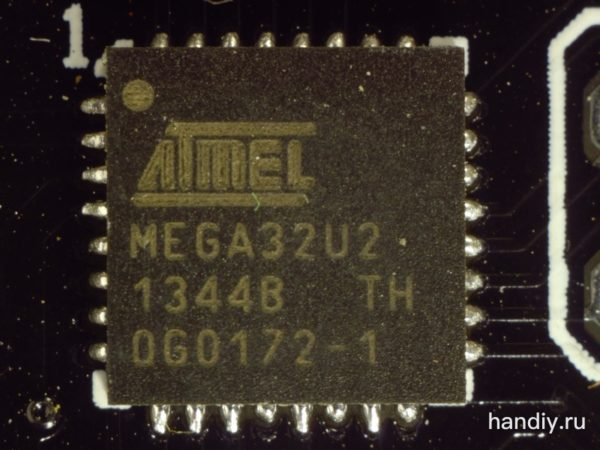 Фотография микроконтроллера Atmel Mega 32u2 фото