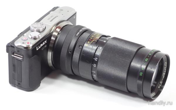 Юпитер-37А «Компактный» светосильный телеобъектив. Устанавливаем на Panasonic Lumix DMC-GF6. Обзор переходника Fotga М42-М4/3