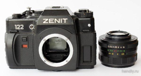 "Фотоаппарат ""Зенит 122"" и объектив Гелиос-44м-4 Helios 44"