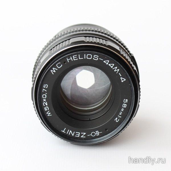 Фотография На объективе с установленным адаптером диафрагма закрывается нормально