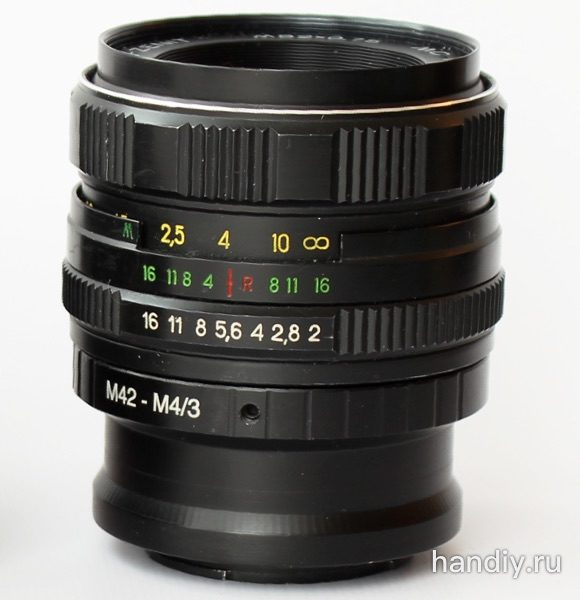 Фотография Объектив Гелиос 44 и адаптер М42-М4/3 helios 44 adapter m42-m4/3