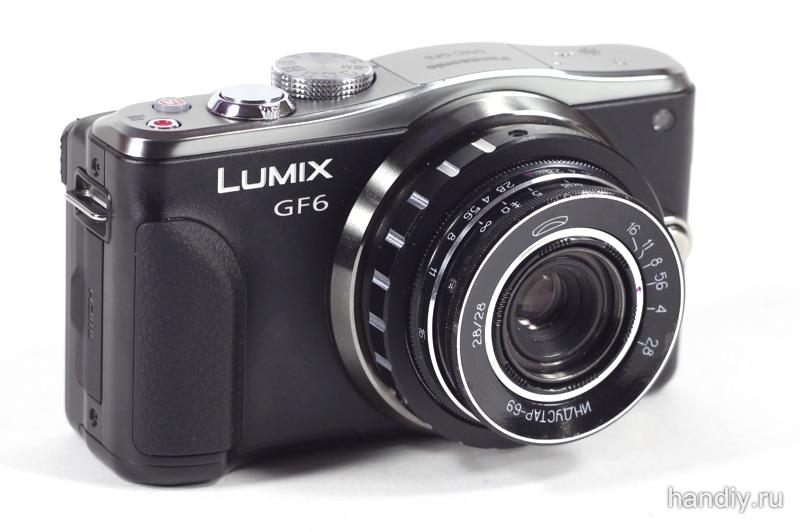 Panasonic Lumix DMC-GF6 переходник-адаптер m39-m4/3 Индустар 69